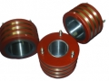 Anéis coletores com pistas de bronze